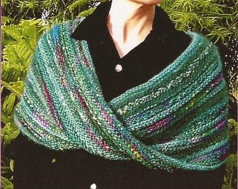 OMEGA WRAP Chris Bylsma Designs Knitting Pattern Moebius Infinity Scarf Shrug