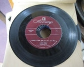 45's, Vintage Music Records, Mercury, Patti Page, Would I Love You, Sentimental Music