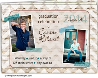 Digital File Print it Yourself/Photo Graduation Announcements/customize with your colors/Carson Design