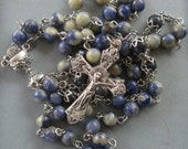 Boys Blue Sodalite First Communion Rosary