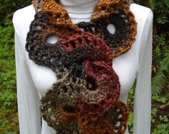Scrolling Scarf – PA-307 - Crochet Pattern PDF