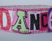 Personalized KeyFob made from recycled tshirts Fun and funky key chain