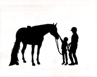 Horse decal, mustang sticker, western, pony, rider, vinyl wall art, childs room decor, 17 X 28 inches
