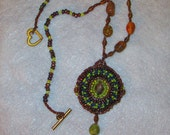 CLEARANCE PRICED - Handmade - Green Stone Beaded Necklace