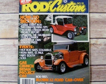 Hot Rod Magazine Rod & Custom 1979 No 10