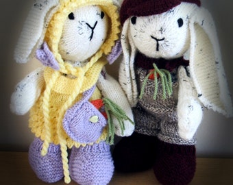 SALE! Big Ears and Buttercup Bunny knitting pattern