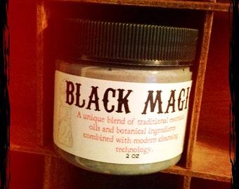 The Original Black Magic Cream CLEANSER- activated charcoal tea tree green clay face 2oz jar