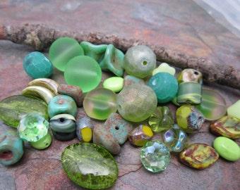 Good 4 u Greens Bead Sampler Perfect for Earrings