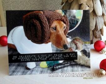 Star Wars Christmas Princess Leia Life Day  Holiday Card - Set of 5