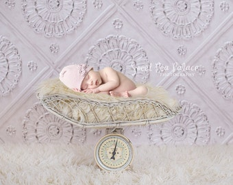 Newborn Baby Child Photography Prop Digital Backdrop for Photographers VINTAGE SCALE