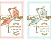Custom Stork Poster for Baby