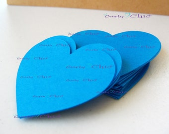 """80 Hearts Tags Size 2"""" -Hearts die cuts -Paper Hearts tags -Cardstock Hearts die cuts -Paper Hearts labels -Paper tags -Custom die cuts"""