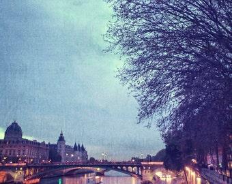 la seine, paris - digital print