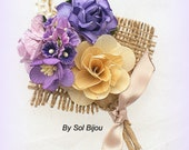 Groom Boutonniere, Purple Boutonniere, Button Hole, Corsage, Groom, Groomsmen, Mother of the Bride, Rustic, Lilac, Ivory, Pearls, Burlap