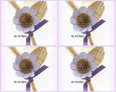 Burlap Boutonnieres, Lilac, Beige, Corsage, Button Hole, Groomsmen, Groom, Wheat, Rustic Boutonniere, Shabby Chic, Rustic Wedding, Elegant
