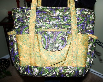 Beauitful Hand Crafted By Maggie Laptop Brifcase-  Messenger bag -Crossbody Bag-Back to School Sale.
