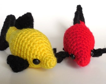 Crochet Amigurumi Animal : Molly Fish - Red