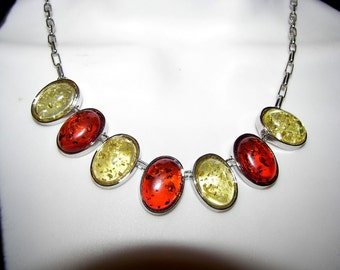 necklace Baltic Amber Bib    Boho Hippie