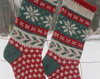Instant Download Christmas Stocking Knitting Pattern