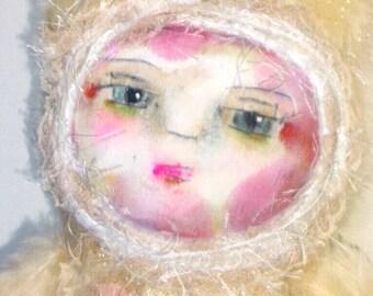 Painted Art Doll Snow Kitten