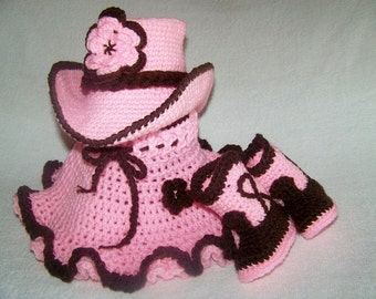Cowgirl Baby Outfit - Pink Cowgirl Hat - Baby Cowboy Outfit - Baby Cowboy Prop - 1st Cowboy Outfit - Sheriff Baby Costume - Cowboy Toddler