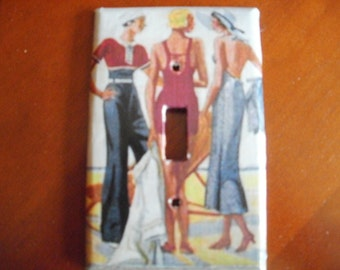 Fashionable Ladies at the Beach Switchplate Cover