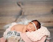 Newborn Mini Texture Blanket Prop - Handspun Merino