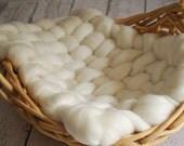 Merino Mini Blanket - Newborn Photography Prop - Hand Woven