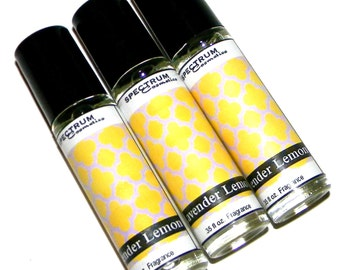 LAVENDER LEMON Perfume Roll on Bottle