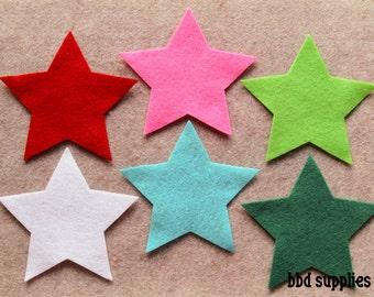 Fa La La - Large Stars - 12 Die Cut Felt Shapes
