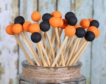 Halloween Lollipop Sticks, Cake Pops Sticks, Candy Kabob Sticks, Painted Rock Candy Sticks, Halloween Cake Pops, Wooden Sticks (12)