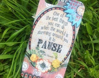 Take A Pause - Silicone case for iPhone 5 and 5S - Ready to ship - SUPER SALE