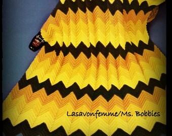 Crochet Ripple Afghan Pattern - PDF 7477713 - Ripple - Afghan - Bedspread