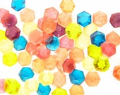 Hard candy gems, 6 flavors of hexagonal candy pieces , honeycomb shape faceted edible jewels, bite sized candy