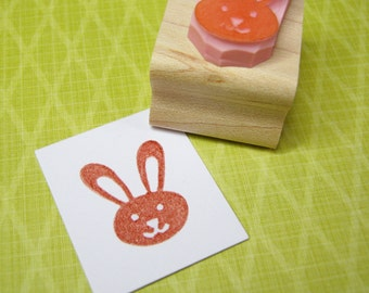 Little Easter Bunny - Hand Carved Rubber Stamp - Easter Stamp - Easter Rubber Stamp - Rabbit Stamp - Easter Craft
