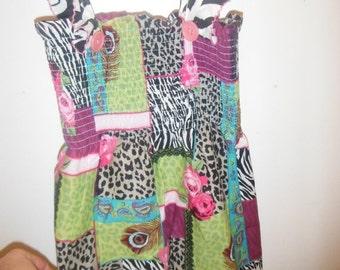 Girls Multi Animal Print Sun Dress--Sooo Cute--Great Gift