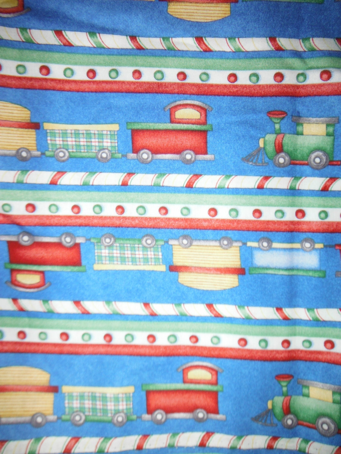 Fun train fabric hard findlast piece for Fabric with trains pattern