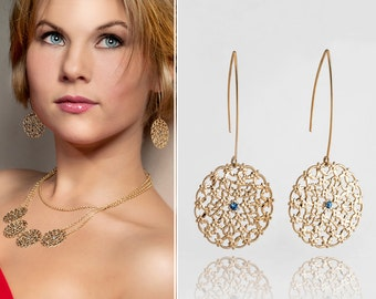Gold dangle earrings, Gold earrings, Dangle earrings, Gold earrings dangle, Gold chandelier earrings, Chandelier earrings, Gold chandelier