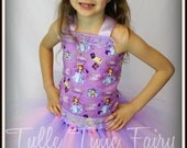 Sofia the First  birthday corset  tutu dress with bow any size 12m 18m 2t 3t 4t 5t 6 7 8 lavender pink tutu