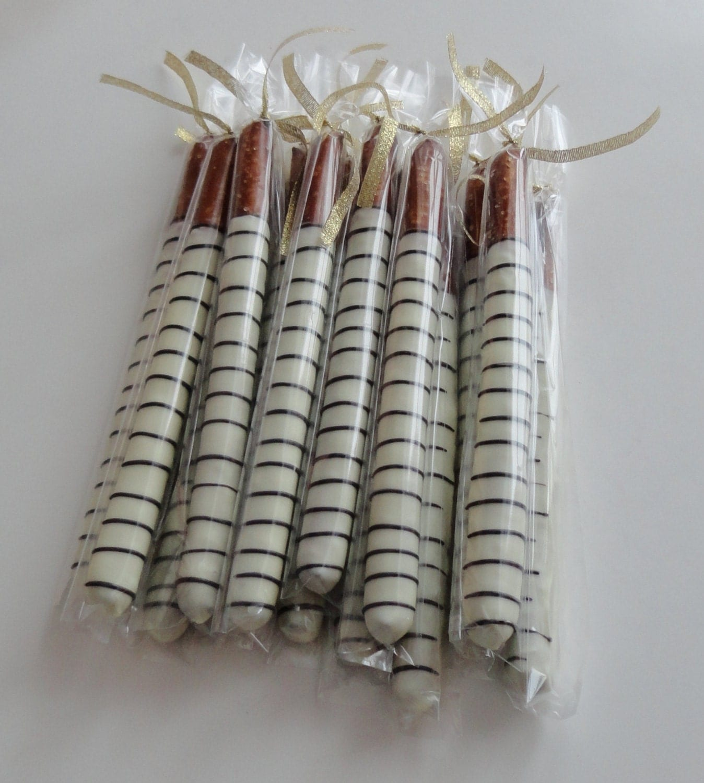 2 Dozen Chocolate Covered Pretzel Rods Easter Goodies