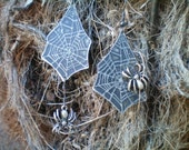 spider earrings cobweb earrings halloween earrings halloween jewelry dangle earring spider jewelry metal jewelry etched metal jewelry spider