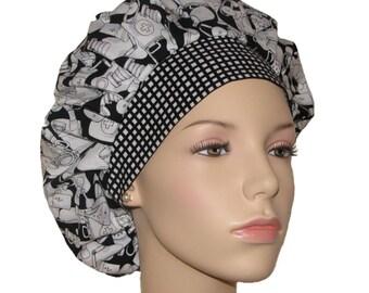 Surgical Scrub Hats-Medical Stuff-ScrubHeads-Scrub Caps-Scrub Hats For Women-Anesthesia Scrub Hat-Bouffant Scrub Hat-Loralie Designs Fabric