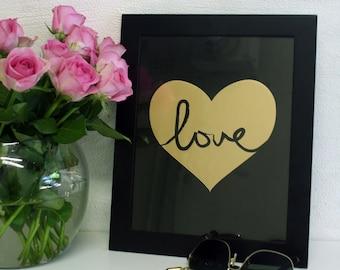 Gold Love – black print
