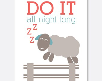 Do it All Night Congrats on Baby Card, Raunchy Card, Silly Card, Congratulations Card, New Baby Card, New Parents Card, Baby Shower Card