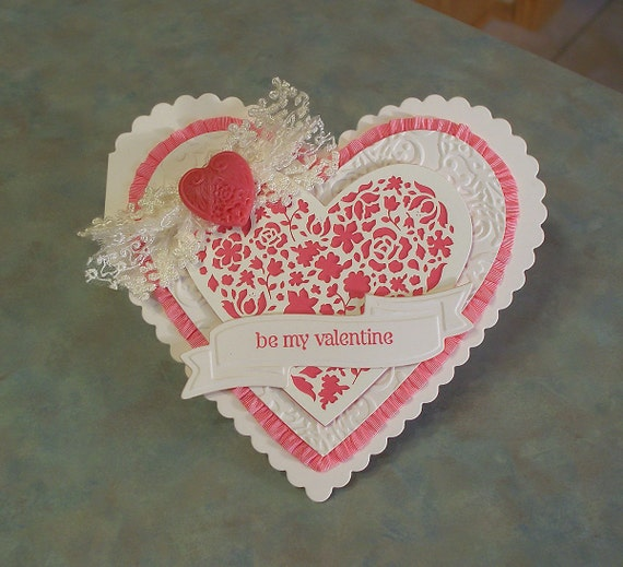 Valentines Day Card using Stampin Up Designer Cuts and P.S. I Love You