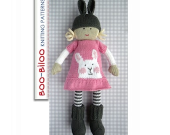 Faye - girl doll toy knitting pattern