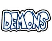 Demons Embroidery Machine Double Applique Design 4149