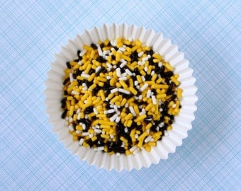 Bumble Bee Mix Jimmies - Yellow and Black Sprinkles (4 oz) Birthday Party, Baby Shower