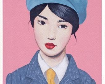 Fine art print -- Girl Wearing Beret