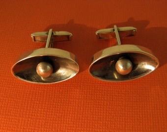 Melecio Rodriguez Cufflinks Taxco Silver Modernist